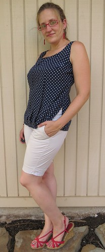 Navy Polka Dot Top - After