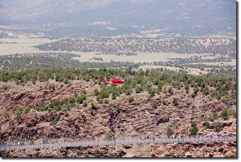 Royal Gorge Bridge and helicopter
