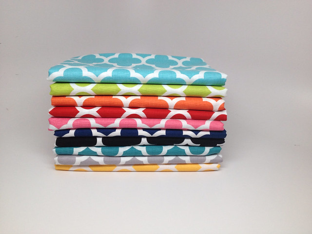 Quatrefoil FQ Stack from Fabric Fly for this week's Giveaway