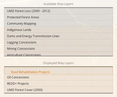Reordering Map Layers