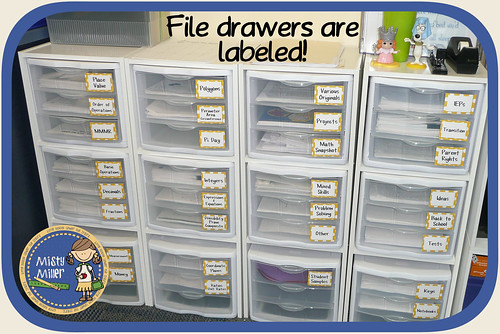 Classroom Organization Tips for a Small Space: labels