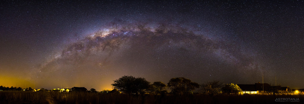Milkyway panorama, Zebula Lodge by Tanja Schmitz