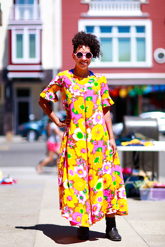 muumuu street style, street fashion, women, San Francisco, 22nd Street, Quick Shots