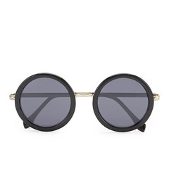 le specs round ziggy sunglasses black