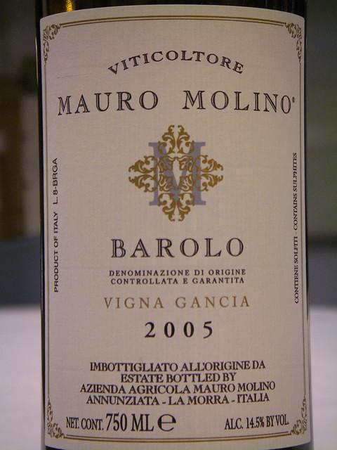 Mauro Molino 2005 Barolo Vigna Gancia