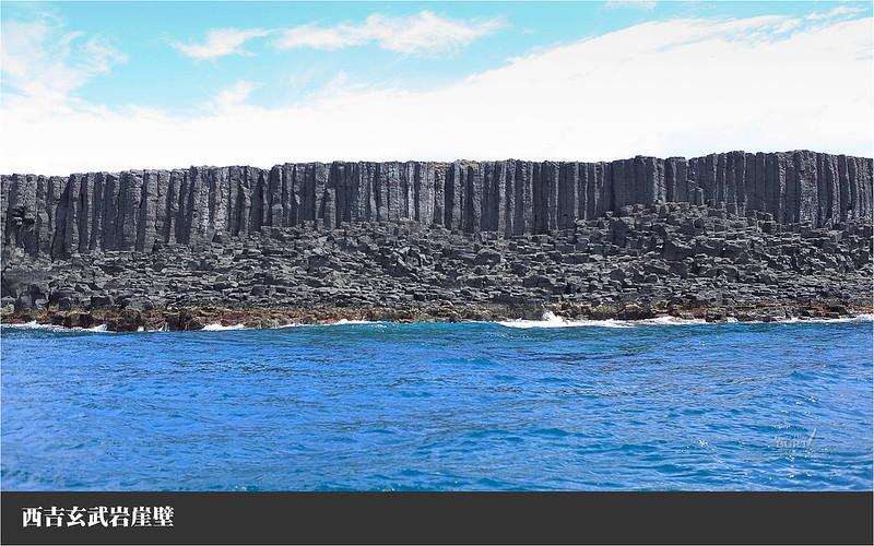 西吉玄武岩崖壁