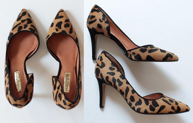 halogen leopard pumps
