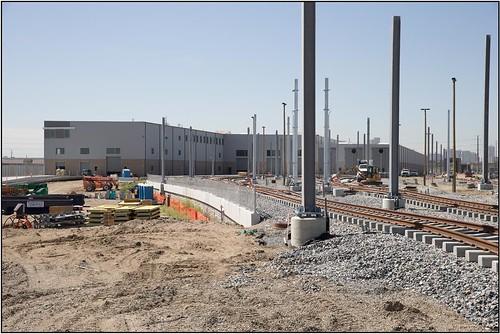 Photo of yard track installation at maintenance facility