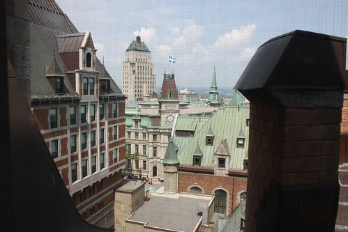 View from our room at the Château Frontenac