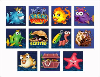 free Fish Party slot game symbols