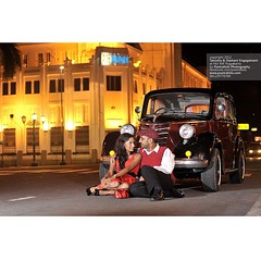 Tanusha+Dashant, #couple from #Malaysia, #nightshoot #prewedding #engagement #photoshoot with #vintage #car at #yogyakarta | #preweddingphoto by @poetrafoto, #indonesianweddingphotographer ¶   check our instagram profile for info and reservation.