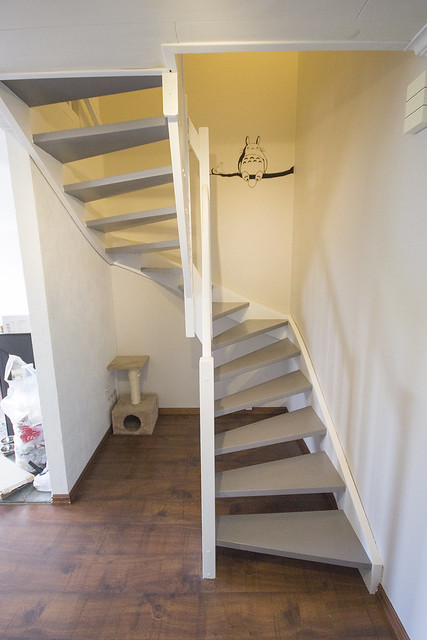 Stairs after painting