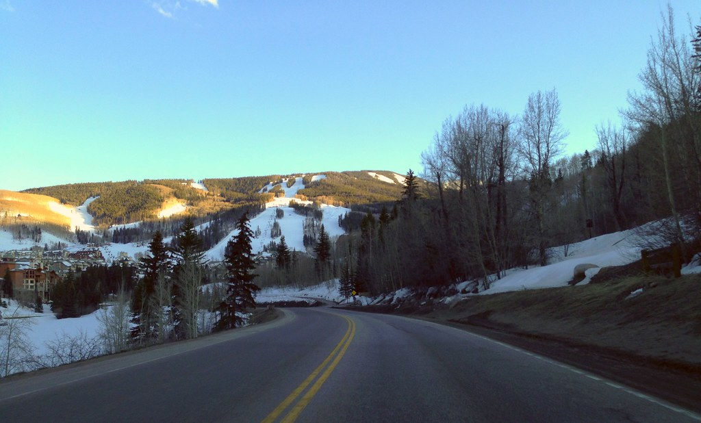 Drive towards Beaver Creek, Colorado