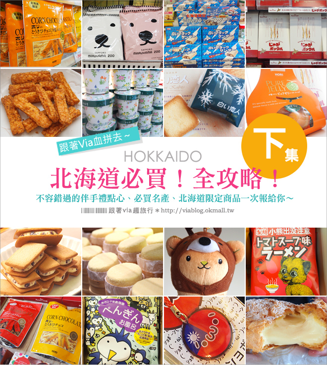 【北海道必買】北海道限定!北海道伴手禮、紀念品推薦、跟著via醬買就對了!《下》