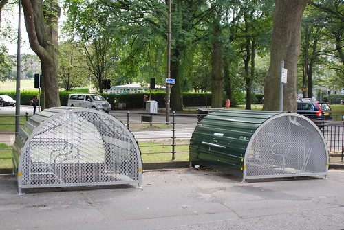 On street cycle storage in Edinburgh