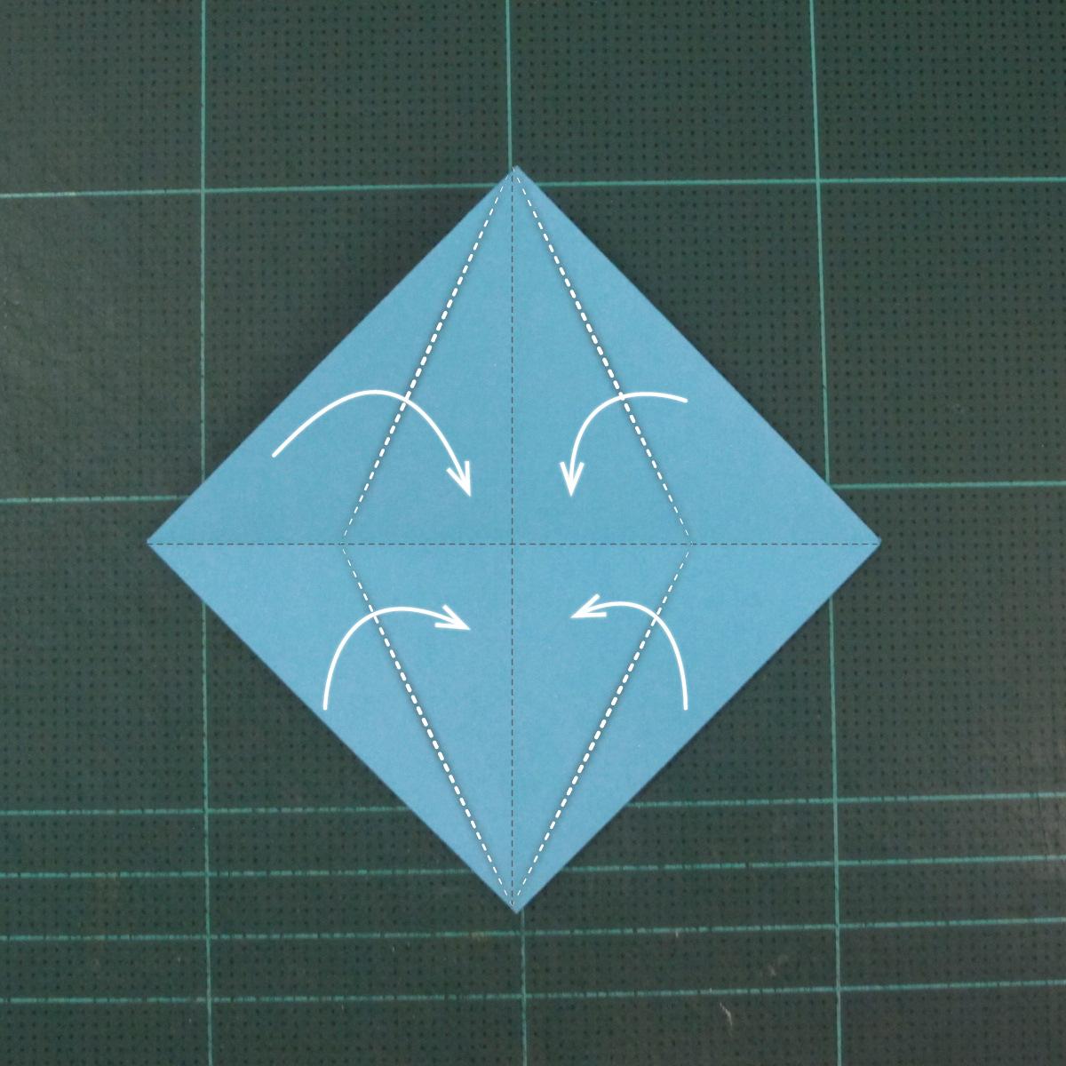 วิธีพับกระดาษเป็นถาดใส่ขนมรูปดาวแปดแฉก (Origami Eight Point Star Candy Tray) 006