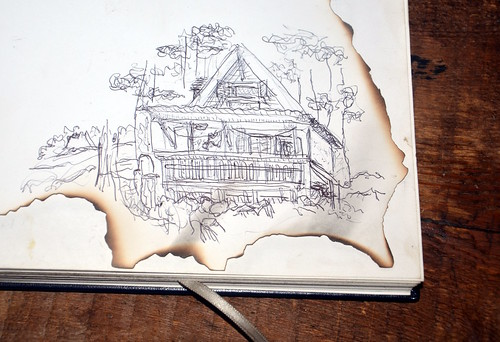 drawing in the hut of the hut