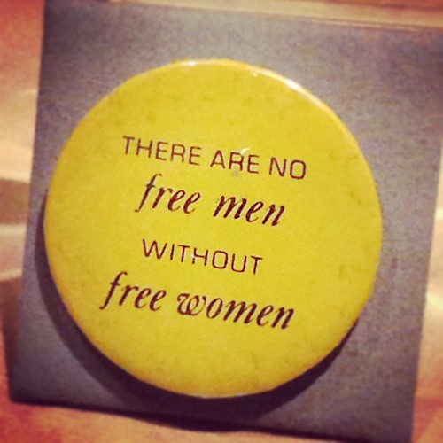 @ the Indiana State Museum // 60s/70s feminist badge