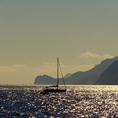 Late afternoon sail off the shore of Positano, Italy