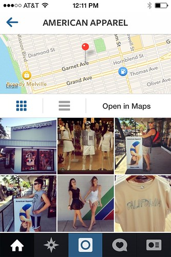 """The geo-tag for the American Apparel on Garnet reveals other """"empowering"""" photos."""