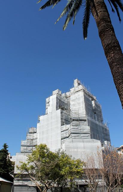 ryskortodoxa katedralen under renovering