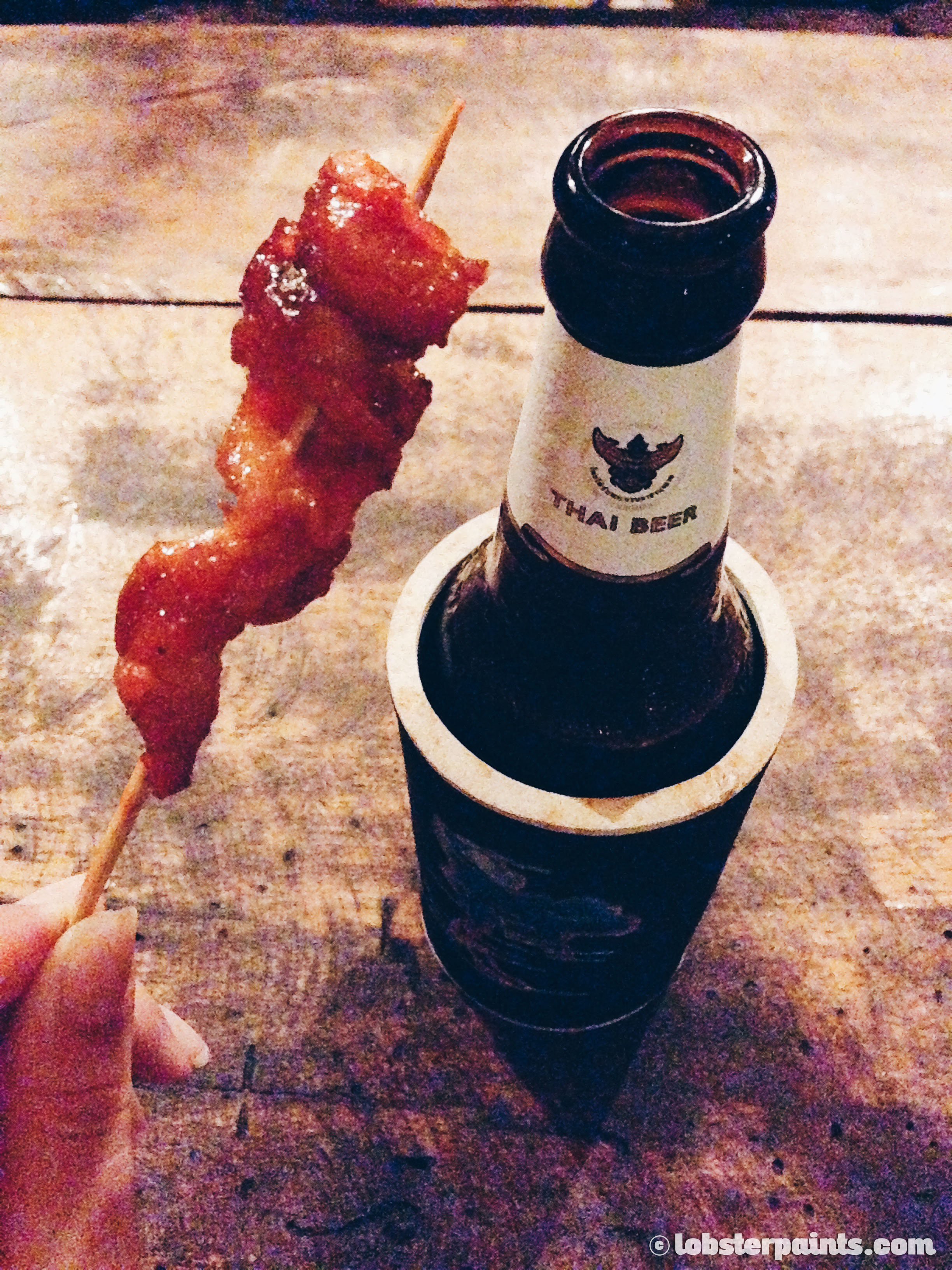 BBQ Chicken Skin on stick! | Koh Lipe, Thailand