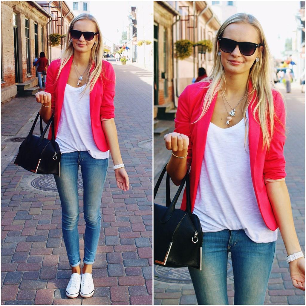 street-style-hot-pink-blazer