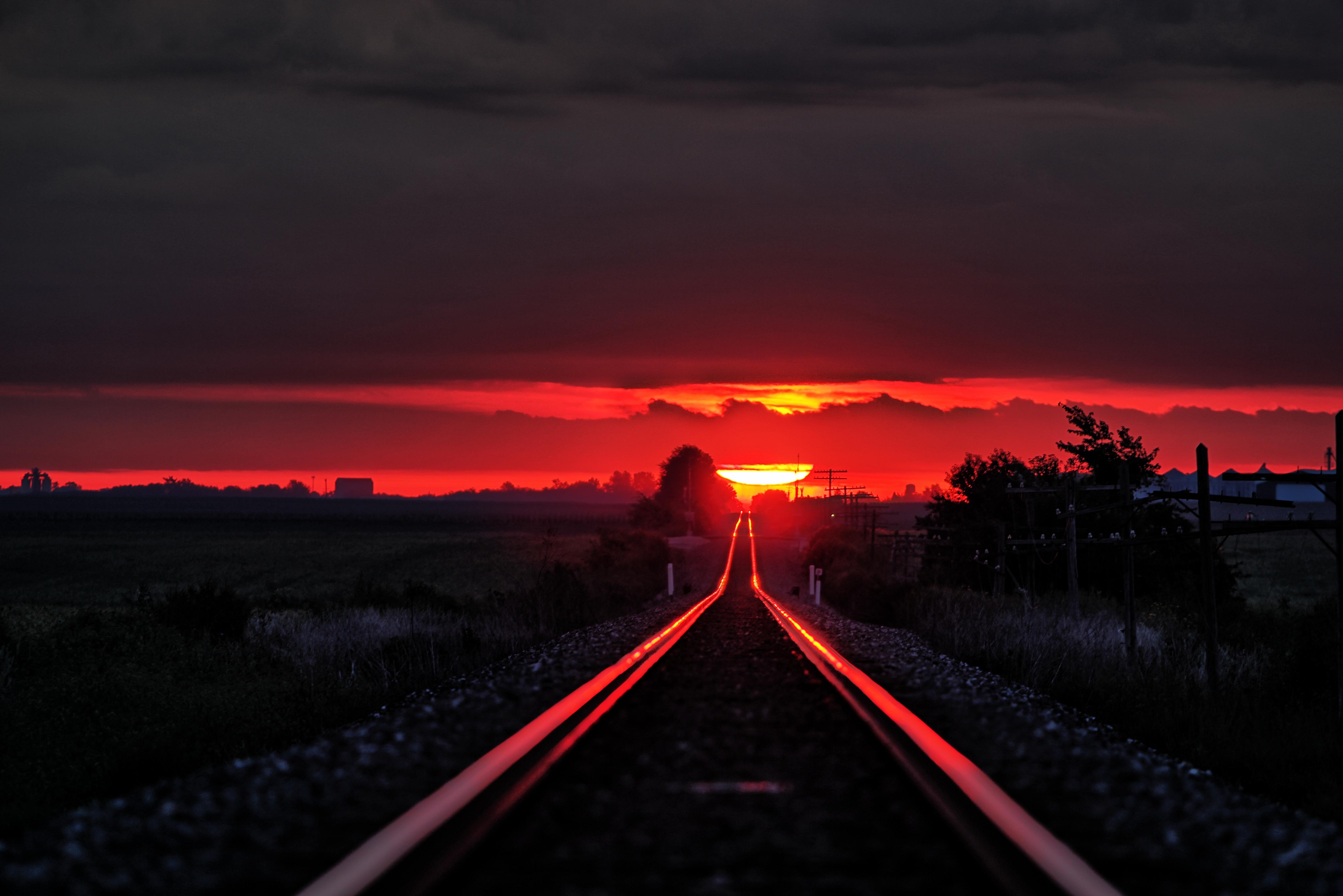 Illinois vermilion county muncie - County Sunrise Illinois Rails Hdr Vermilion