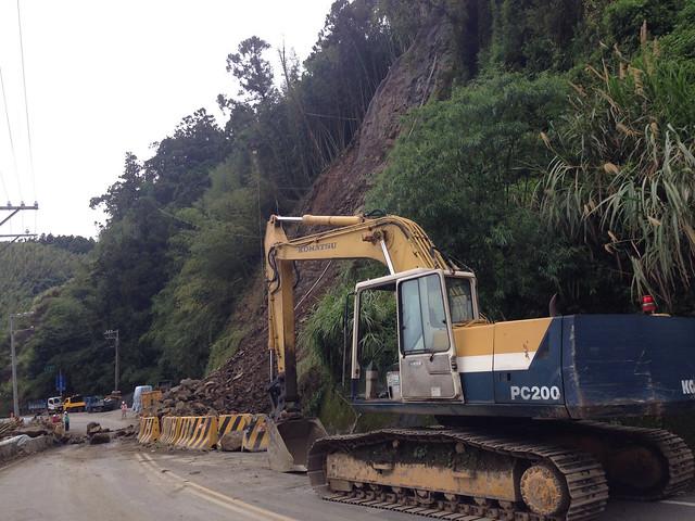 阿里山公路的坍方