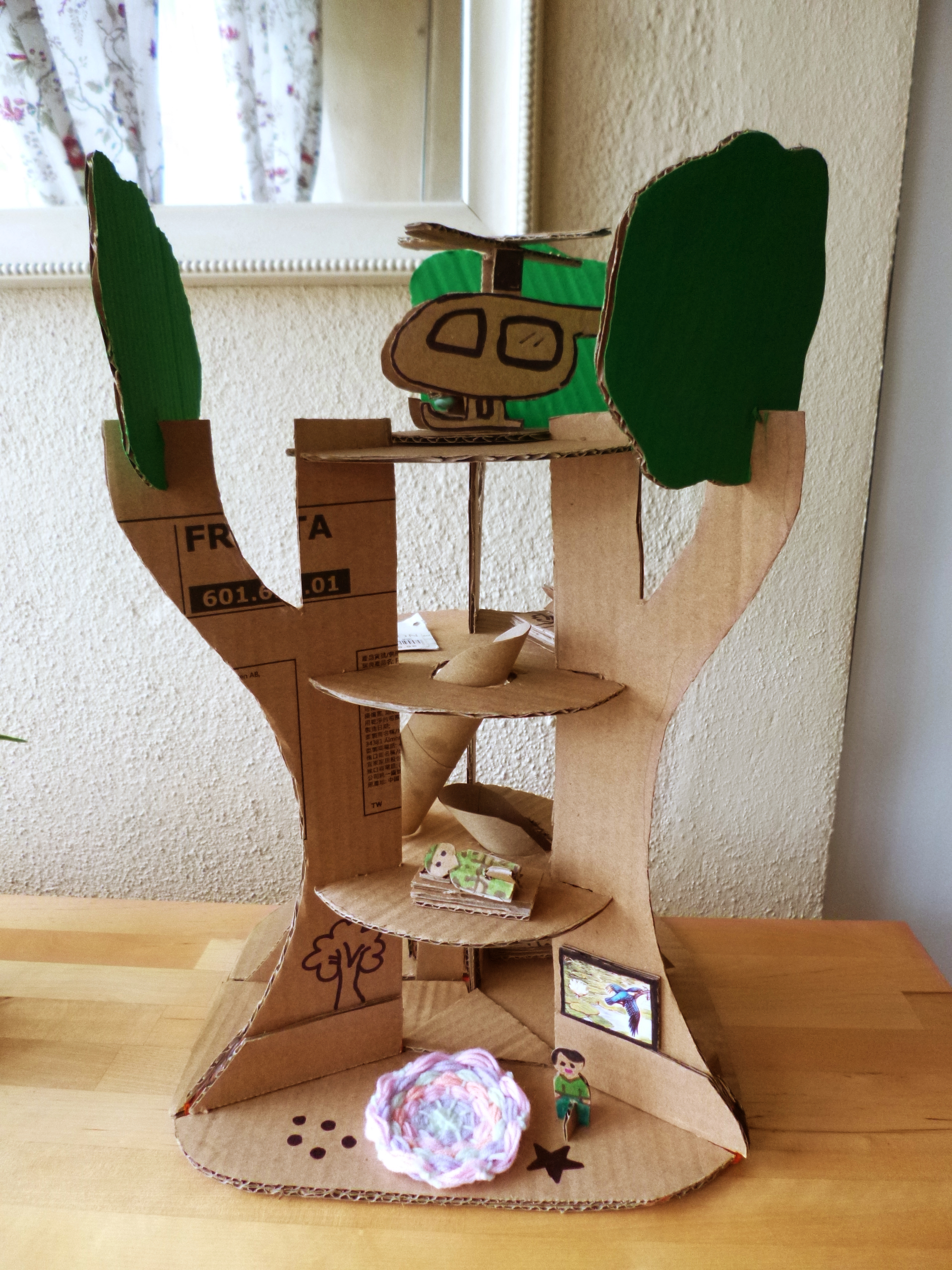 Cardboard treehouse