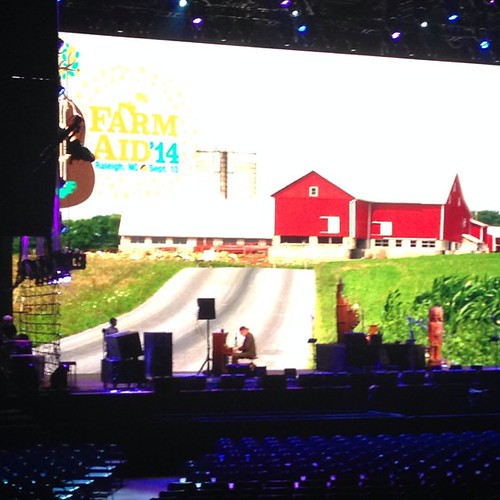 Neil Young soundcheck. #FarmAid2014 #Road2FarmAid