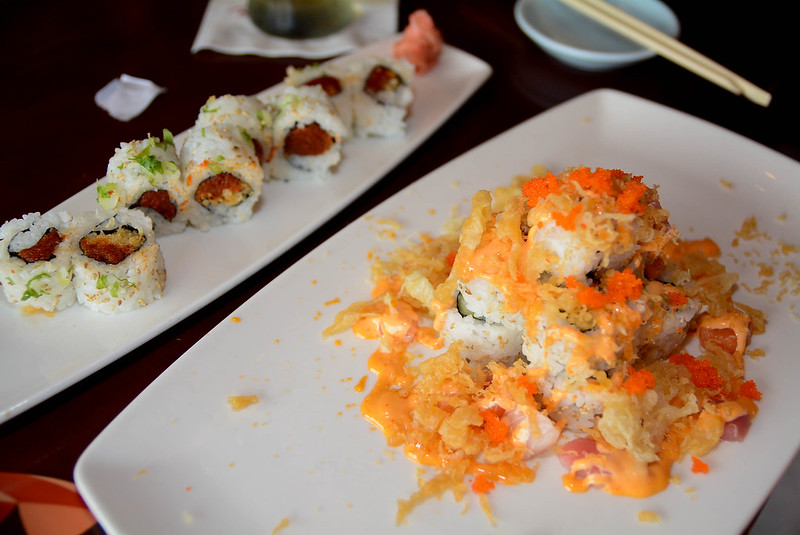 Spicy Crunch and Volcano Roll