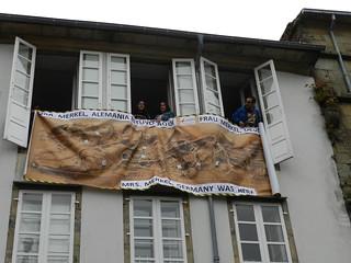 Protesta en Santiago de Compostela (Visita Merkel-Rajoy)