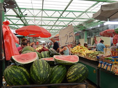 Watermelons in a Belgrade market, Serbia