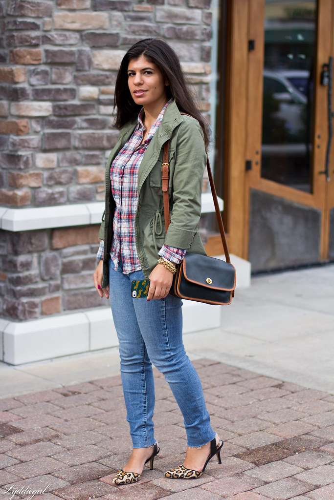 Plaid Shirt, Utility Jacket, Leopard Heels-2.jpg