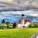 Jakobsweg - Katholische Kirche St. Jakob in Wallgau Oberbayern Alpen
