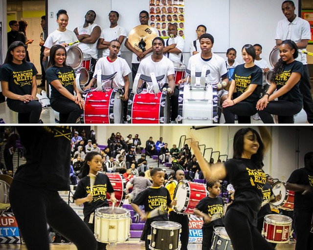 The Black and Gold Marching Elite. Photos by Jason Brown