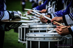 Rat-a-tat-Tsssk! ::     The Northwestern University 'Wildcat' Marching Band performs at  Ryan Field as Wildcat Football hosts California on August 30, 2014.  Photo by Daniel M. Reck '08 MSEd.