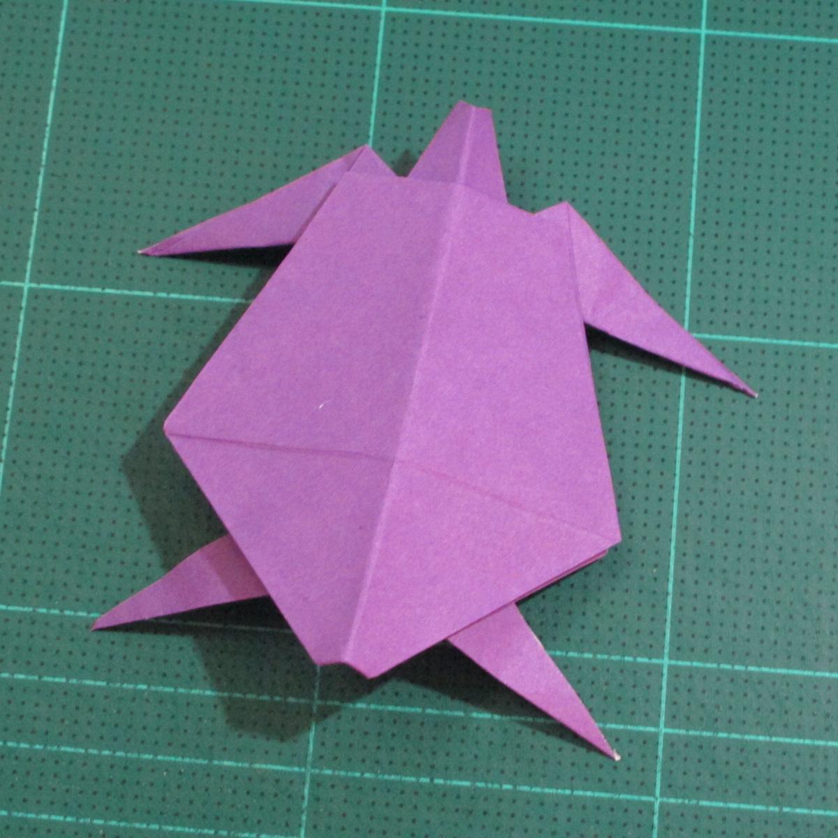 วิธีพับกระดาษเป็นรูปเต่าแบบง่าย (Easy Origami Turtle) 018