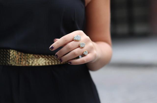 Black Midi Dress   Gold Chain Belt   NYFW Outfit   #LivingAfterMidnite