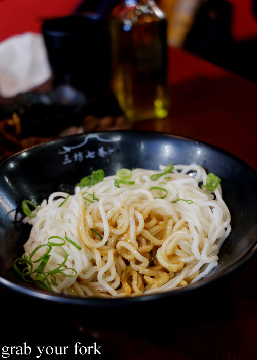 Fujian dry noodles with peanut sauce at Three Lanes and Seven Alleys, Chinatown
