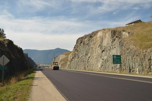britishcolumbia kootenay highway3 creston crestonbc resurfacing bcroads bchighway3 highwayresurfacing