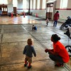 DC photographer at Eastern Market with daytime dance floor action. Copyright 2014 by Marty Katz