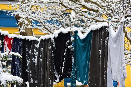 Snowy laundry