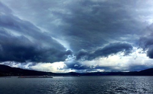 Ominous clouds. d'Entrecasteaux Channel.