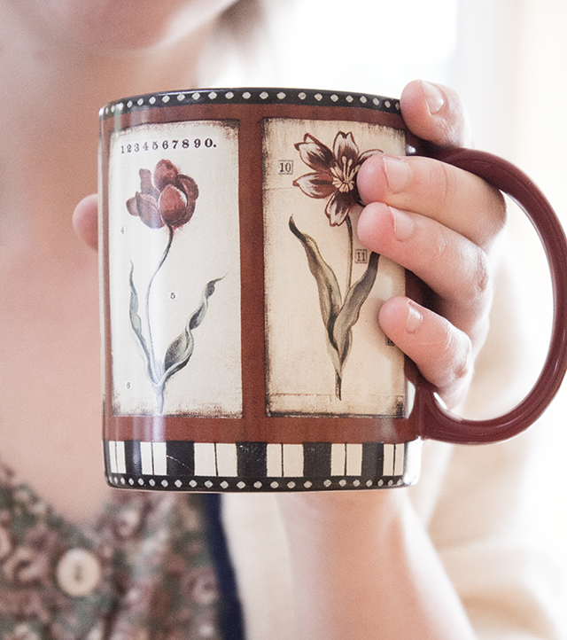 floral coffee mug #garden #home #flowers
