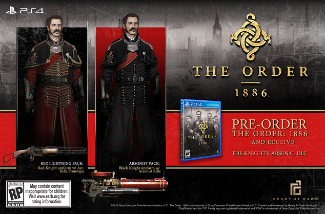 The Order: 1886 - Pre Order Screen