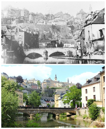 View of Grund, past and now