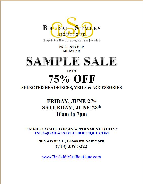 Sample sale summer 2014