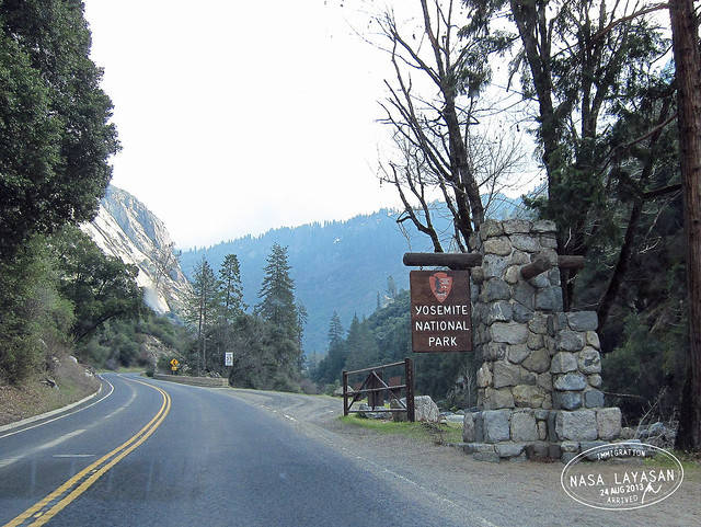 Arriving in Yosemite, California, USA